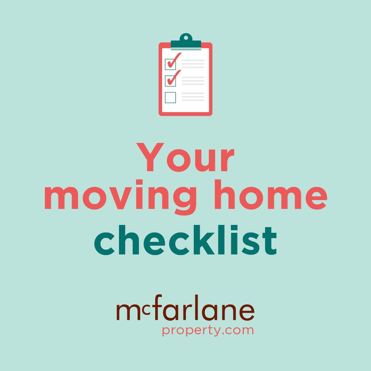 Your moving home checklist